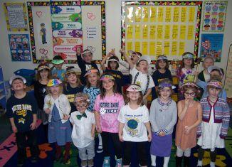 NDES Kindergartners Celebrate 100 Days of School
