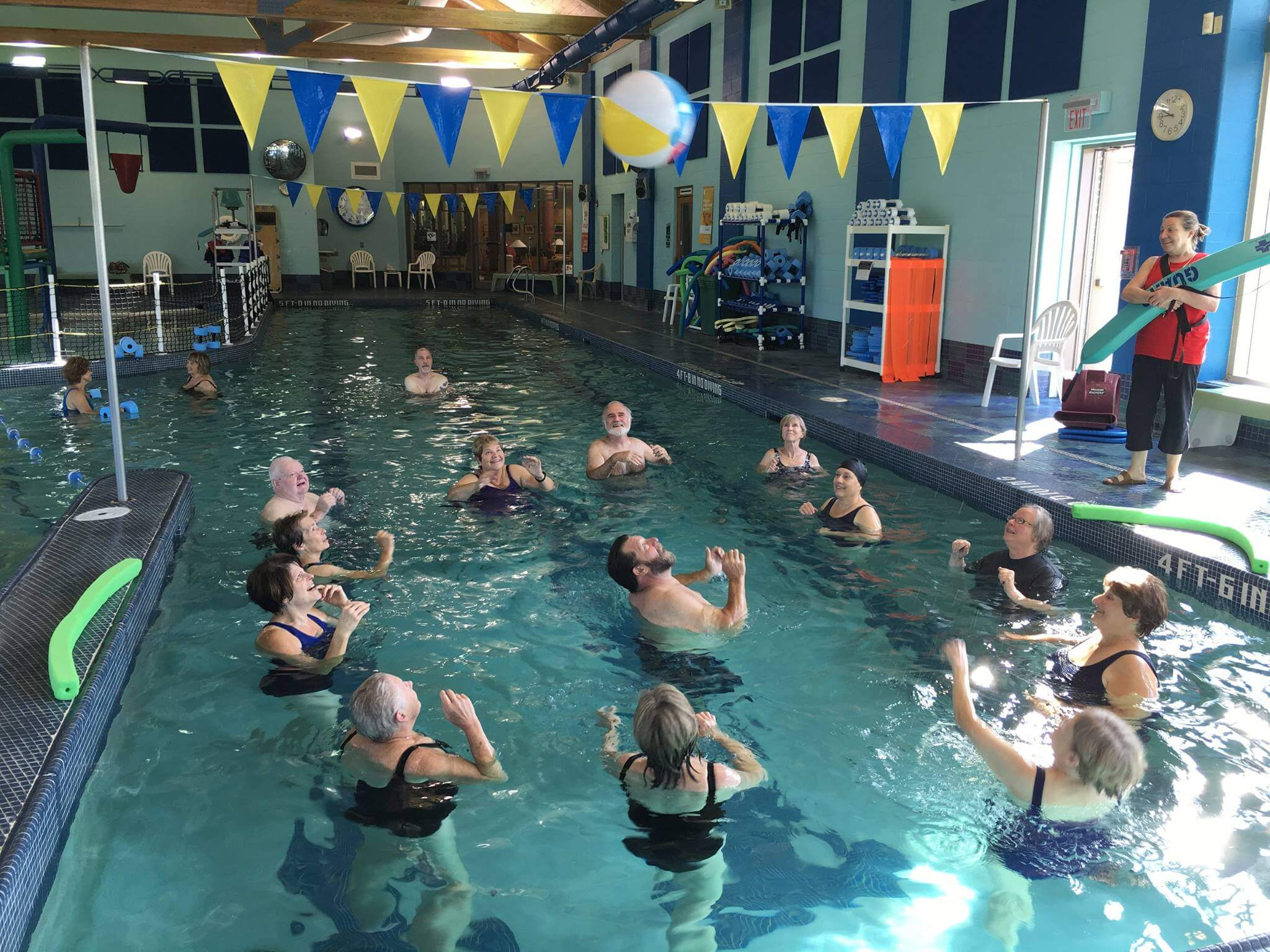 group swimming at y