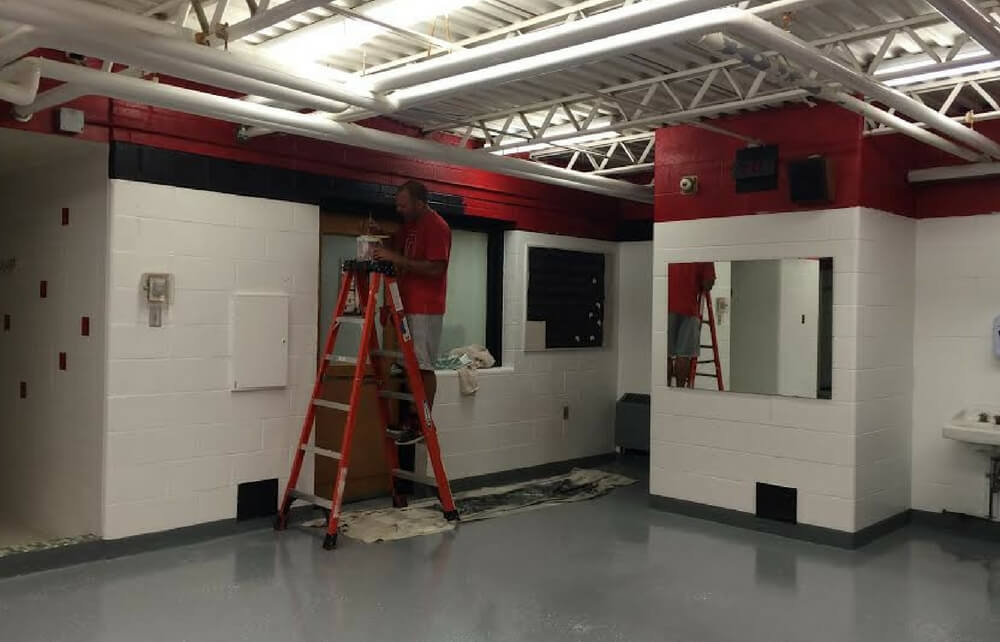 Cardinal High School Girlu0027s Locker Room Gets Face Lift