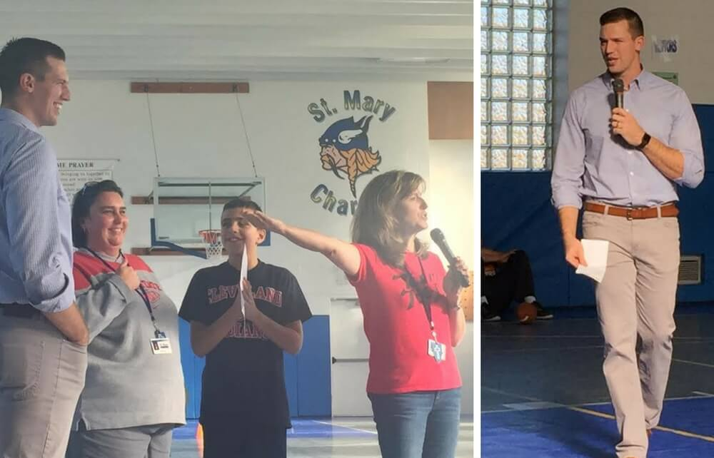 Special Visitor Inspires Resiliency in St. Mary Students