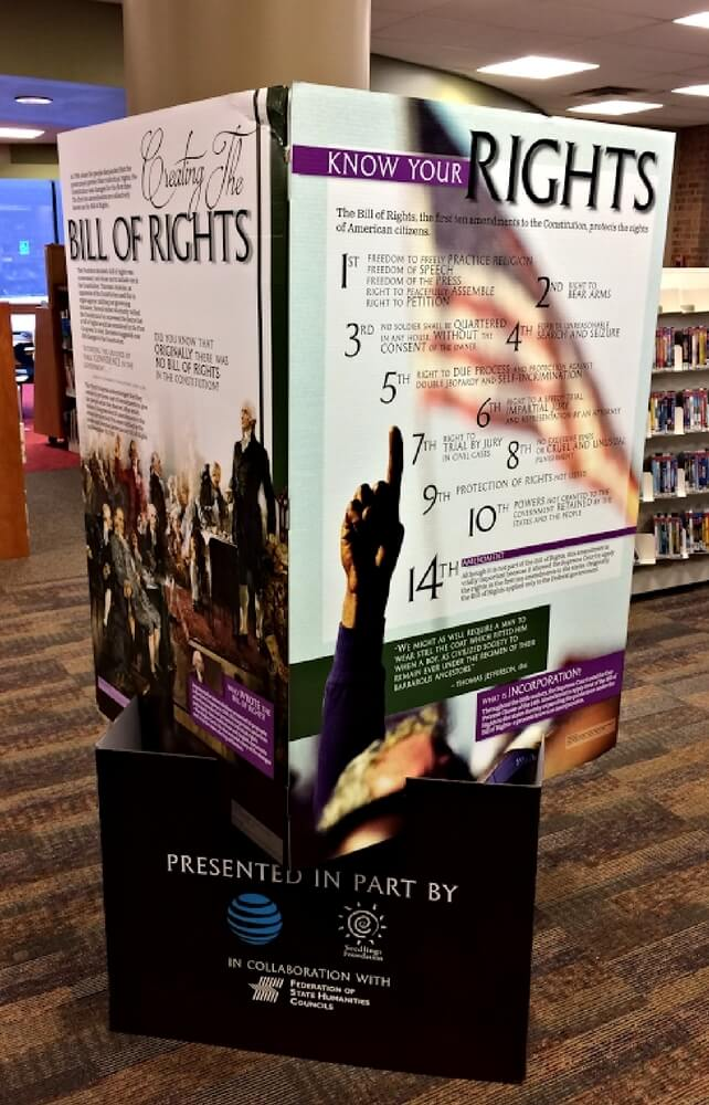 """""""The Bill of Rights and You"""" Exhibit – Geauga County Public Library's Chardon Branch Showcases a Model of this Landmark Document"""