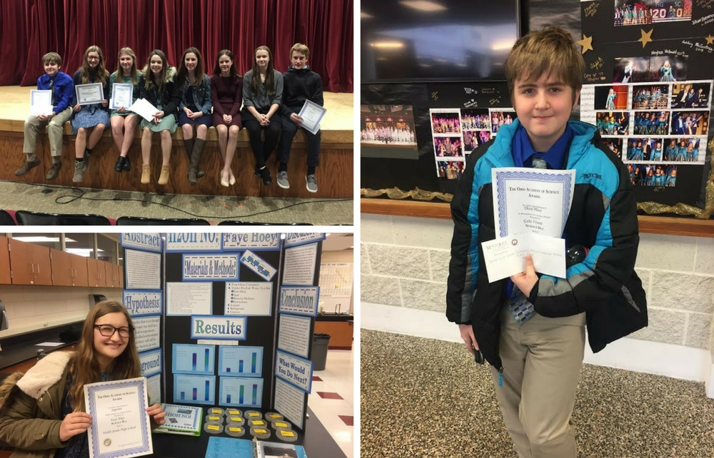 St. Mary Chardon – Small But Mighty! Eight Qualify for Akron District Science Fair!