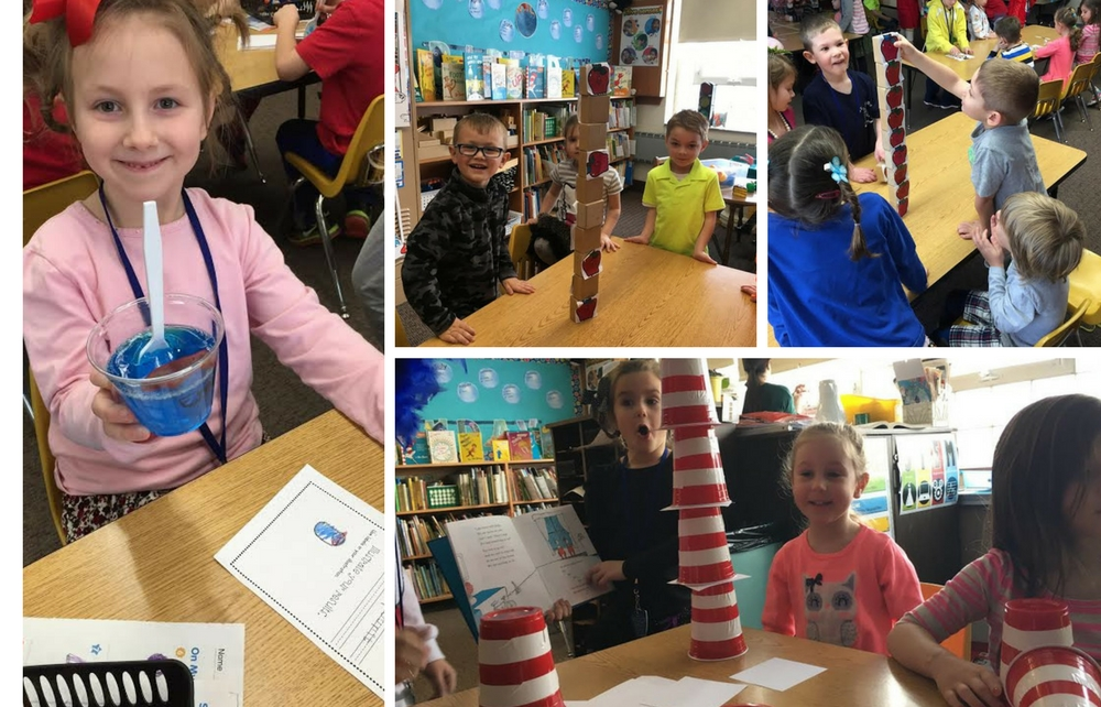 St. Mary Students Celebrate Reading and Dr. Seuss Together in March