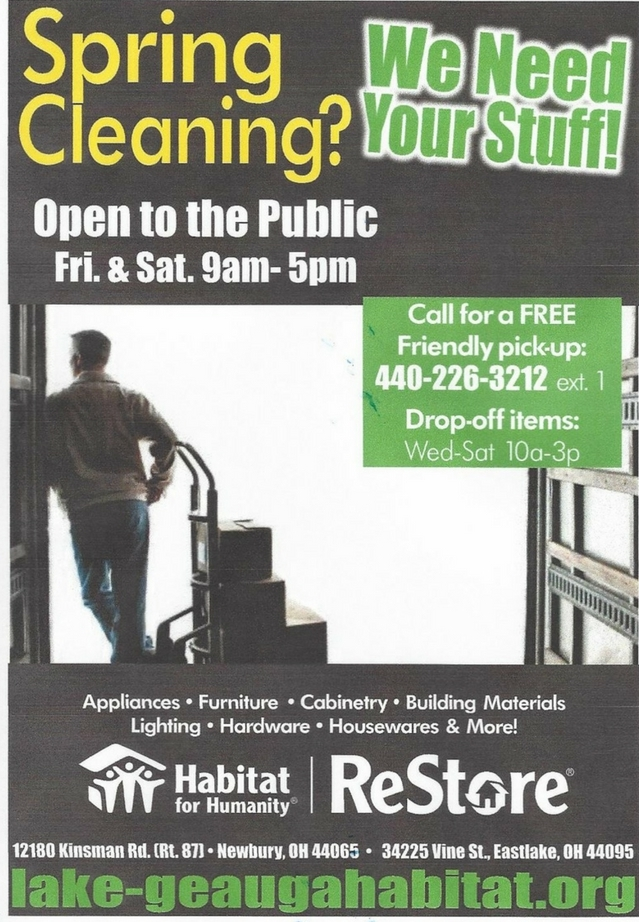Spring Cleaning? Habitat for Humanity Needs Your Stuff!