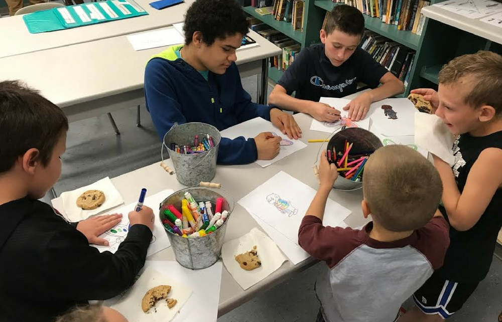 K-1 Students Read at Cardinal Middle School