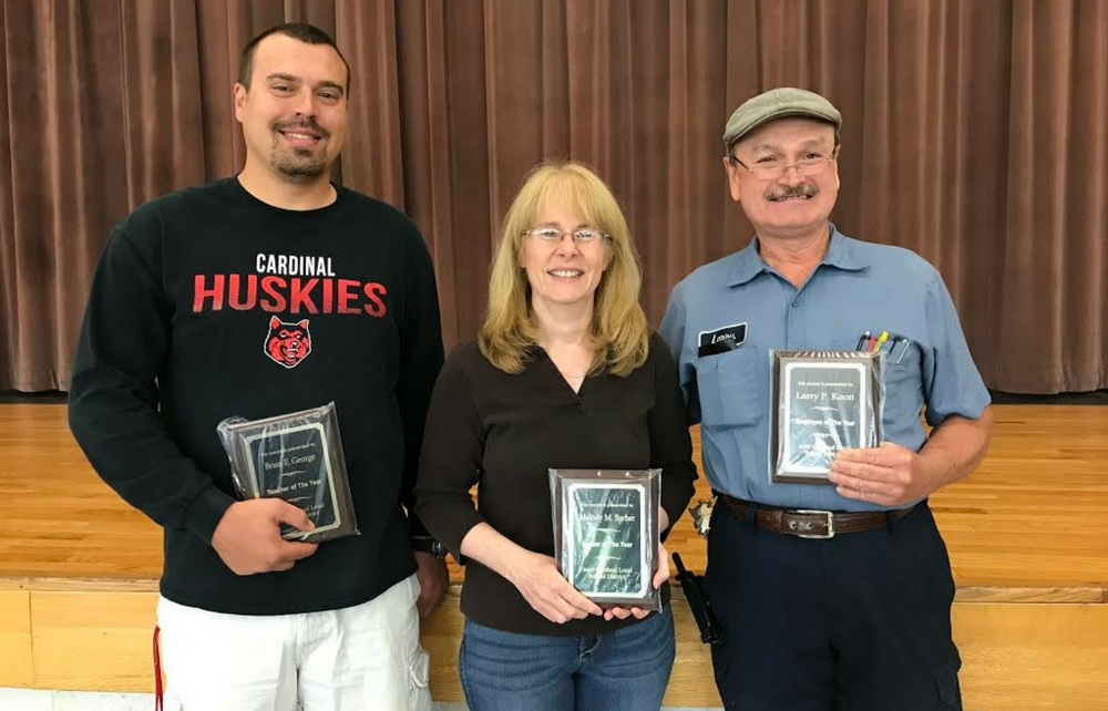 Cardinal School District Recognizes Teacher, Leader and Employee of the Year!