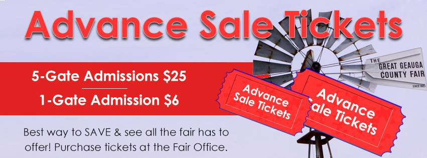 Advance Tickets on Sale Now for The Great Geauga County Fair