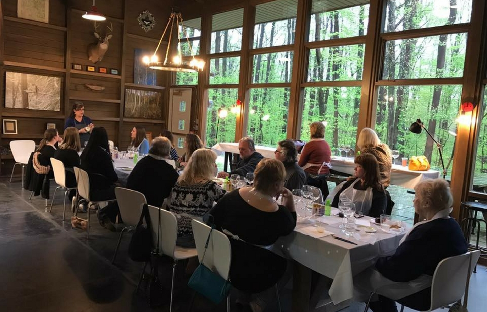 Relax with Friends, Wine and your Autumn Artwork at the Geauga Park District's Autumn Splendor Corks & Canvas Workshop