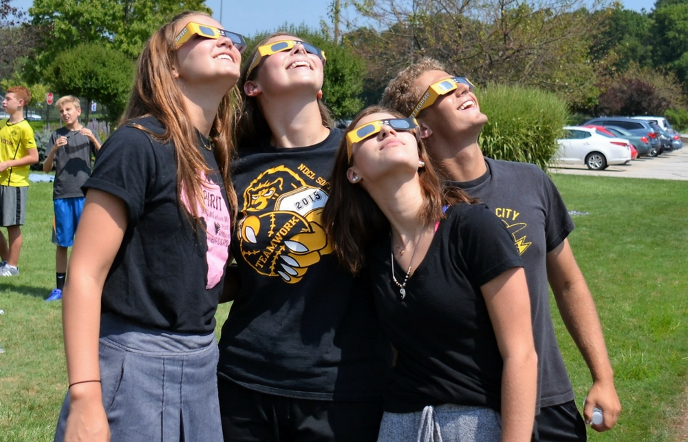 Notre Dame-Cathedral Latin School Students Celebrate a Day in the Sun (and Moon)