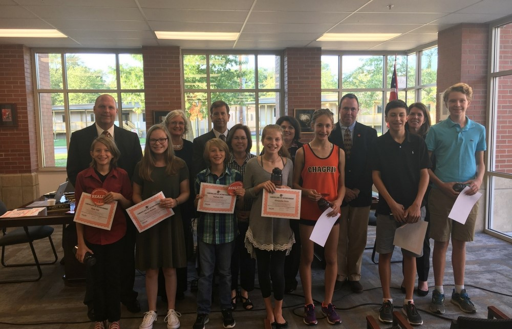 Northwestern University's Midwest Academic Talent Search (NUMATS) Students Recognized at Chagrin Falls Board of Education Meeting