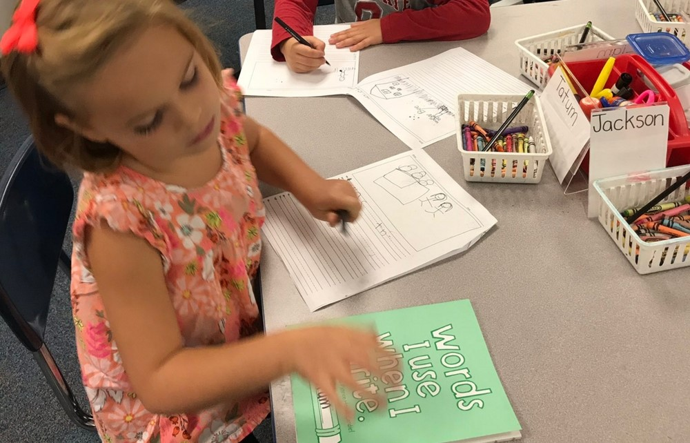 Gurney Elementary's First Graders Begin Narrative Writing Workshop