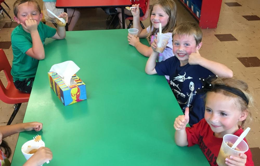Cardinal Kindergarten Students Appreciate Apples!