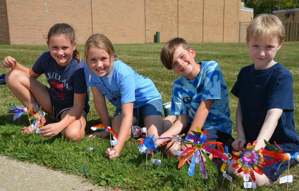 Kenston Intermediate Students are Planting PEACE