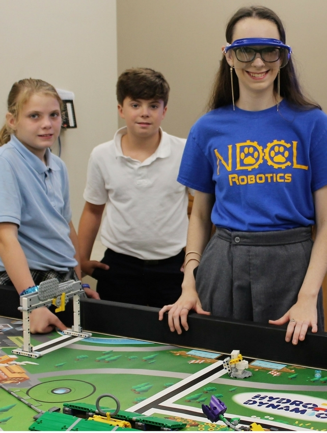 Lions Unite! NDCL Students Mentor NDES First Lego League and Robotics Team