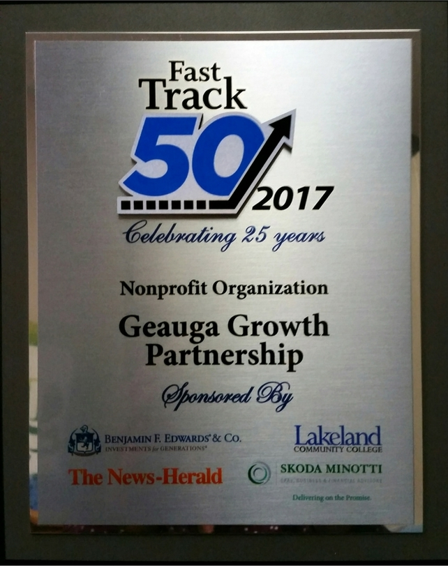 Geauga Growth Partnership Recognized by Lake-Geauga Fast Track 50