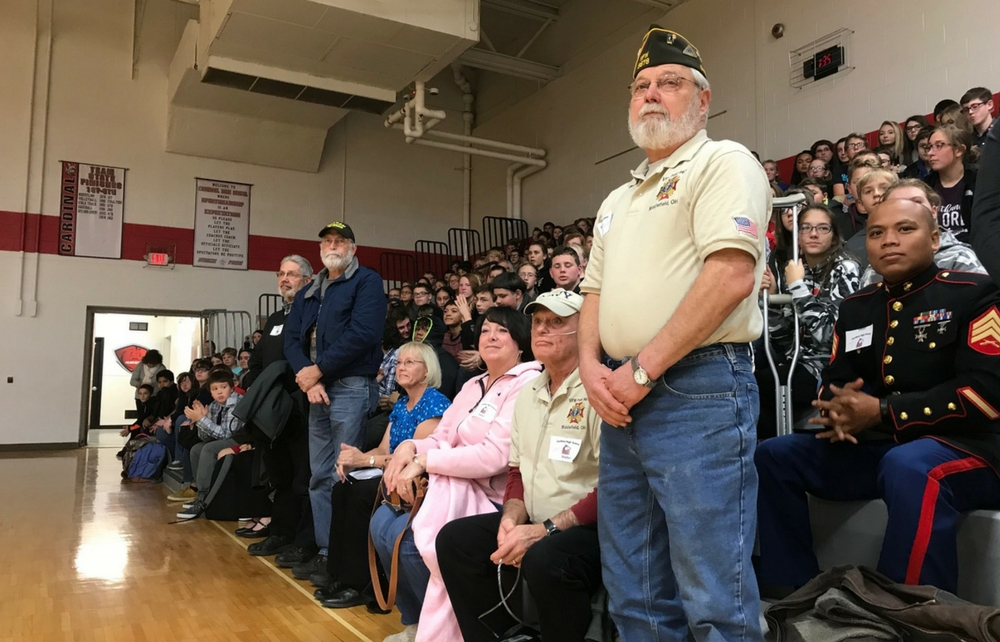 Cardinal High School Honored Veterans at Assembly