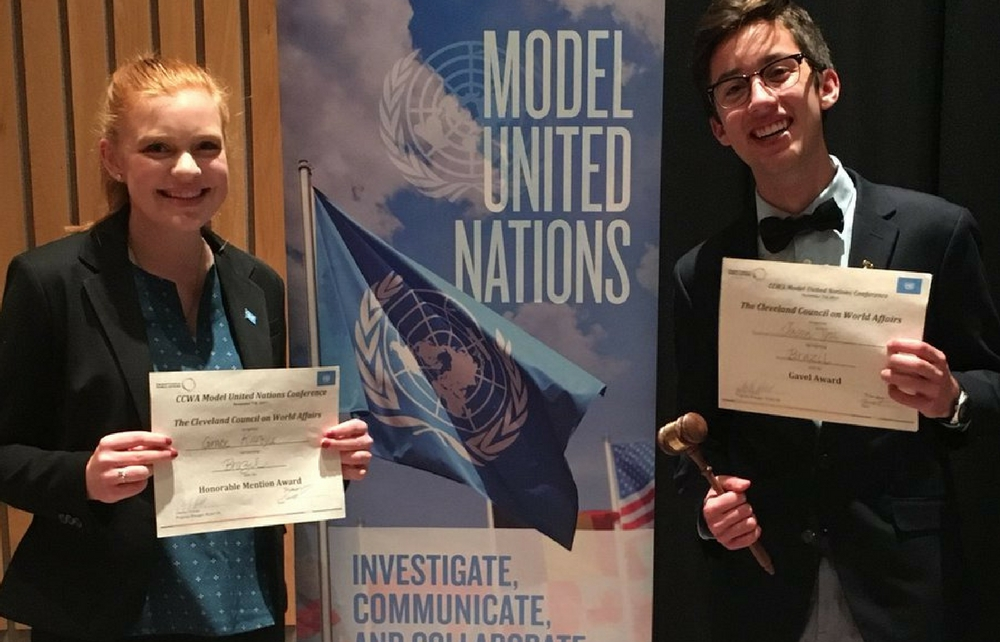 Chardon High School Model United Nations Participated in Autumn Conference Sponsored by Cleveland Council on World Affairs