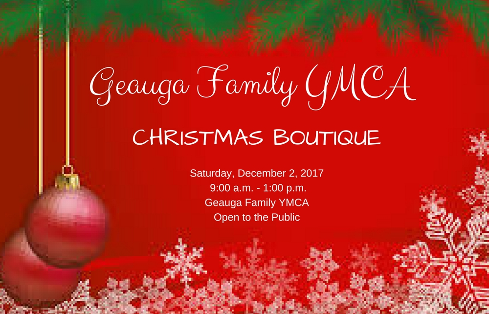 Shop 'Til You Drop at the Geauga Family YMCA Christmas Boutique on December 2!