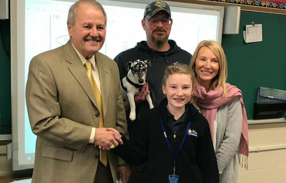 St. Mary Student Student Earns Honor of First Dog Tag for the New Year