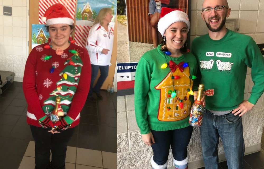 Cardinal Middle School Ugly Sweater Contest Becoming Annual Tradition!