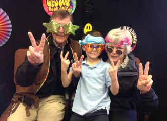"""NDES 1st Grade Enjoys A """"Groovy Lunch with a Loved One"""""""