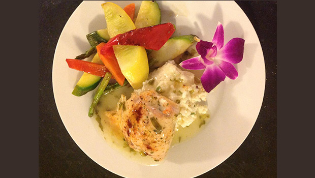 Jesuit-Parmesan-risotto-topped-with-a-baked-butterflied-chicken-breast