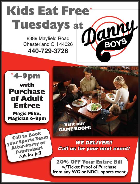 Kids Eat Free at Danny Boys