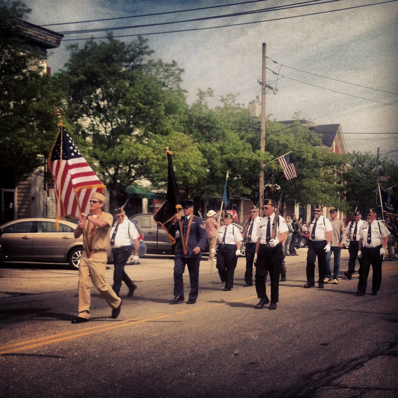 Veterans Marching in the Parade