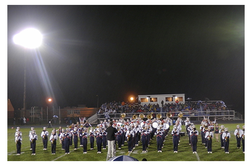 West G marching band
