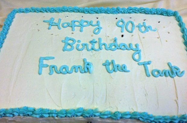 Frank the Tank's 90th Birthday Cake