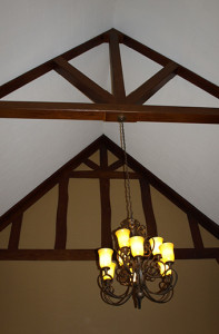 ceiling in Punderson where an apparition was seen