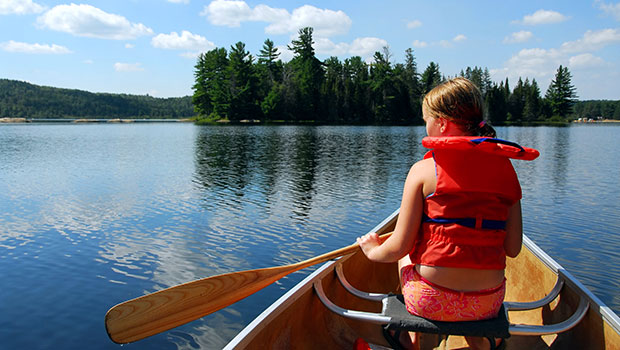 Child in a Canoe