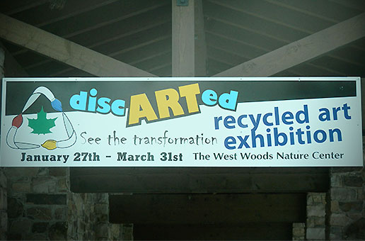 discARTed recycled art exhibition