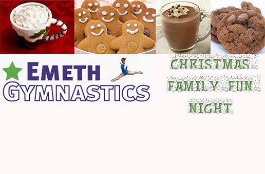 Emeth Gymnastics Christmas Family Fun Night