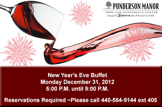 New Year's Eve Dinner Buffet at Punderson Manor Lodge