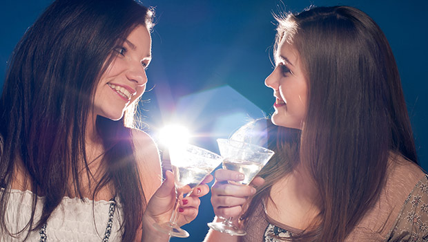 Ladies with martinis
