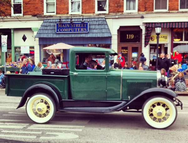 Antique cars at the Chardon Maple Festival