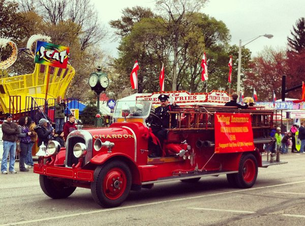 Antique firetruck at the Chardon Maple Festival