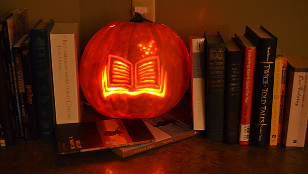 Image result for library pumpkin carving