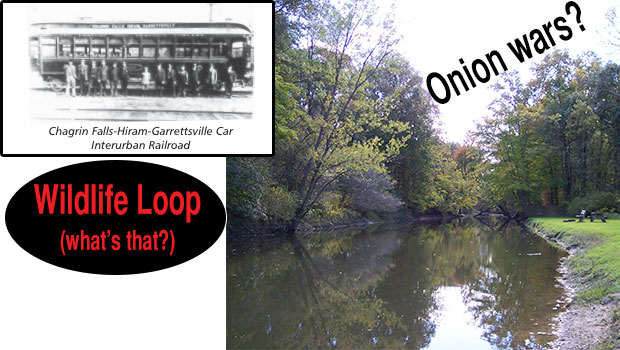 "What do the Onion Wars, the Interurban Railroad, and my ""Wildlife Loop"" have in common?"