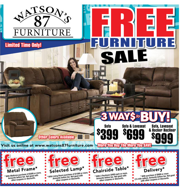 When Are Furniture Sales: Back To School Sale At Watson's 87 Furniture!