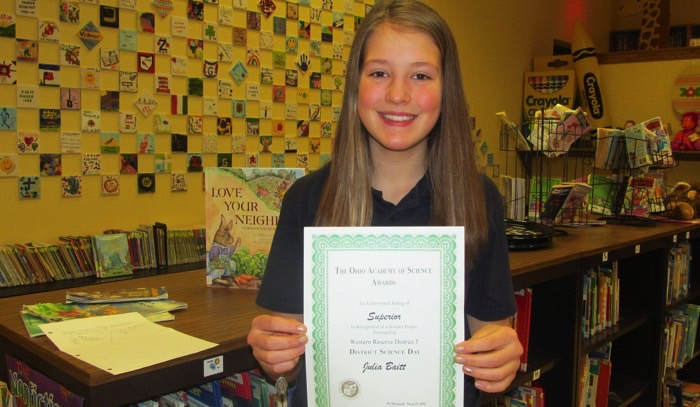 St  Mary School 8th Grader is State Science Fair Bound - Geauga News
